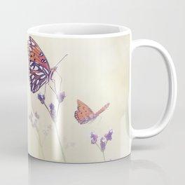 Gulf Fritillary butterflies in a meadow Coffee Mug