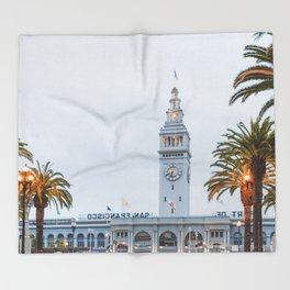 Port of San Francisco Throw Blanket