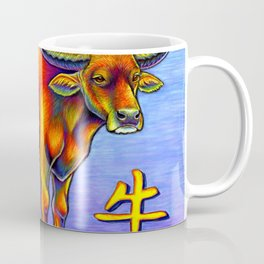 Chinese Zodiac Year of the Ox Colorful Bull Coffee Mug
