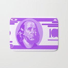 BIG PURPLE 100 DOLLAR BILL BEN FRANKLIN $$$ Bath Mat