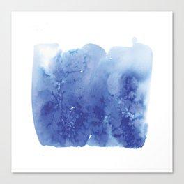 blue salt square Canvas Print