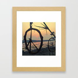 A peace-full sunset Framed Art Print