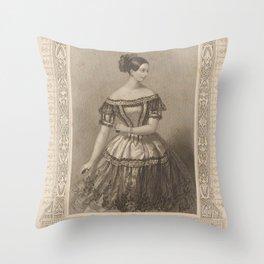 Elssler Fanny  MalCostume de Melle Fanny Essler sic role de Mathilde dans Lile des pirates Ballet Academie Royale de MusiqueAdditional Ile des pirates Throw Pillow