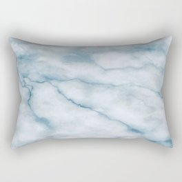 Light blue marble texture Rectangular Pillow