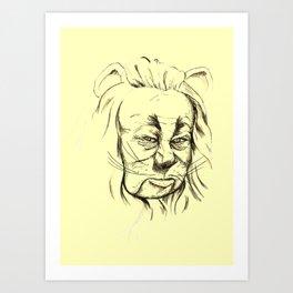 Lion - Yellow Pathway Art Print