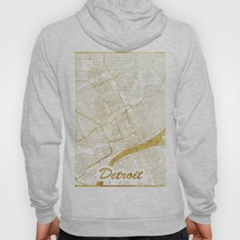 Detroit Map Gold Hoody