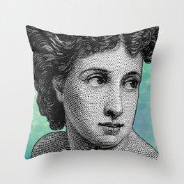 Seductress Blue Throw Pillow