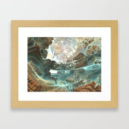 Aqua Space Shipyard Framed Art Print