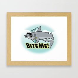 Bite Me! Framed Art Print