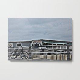 Bike On The Boardwalk Metal Print
