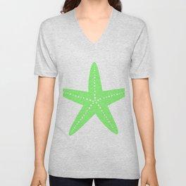 Starfish (Light Green & White) Unisex V-Neck