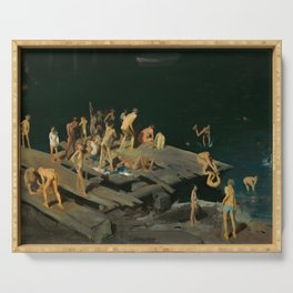 George Bellows - Forty-two Kids, 1907 Serving Tray
