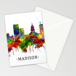 Madison Wisconsin Skyline Stationery Cards