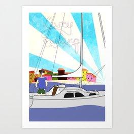 Lazy Sailing Art Print
