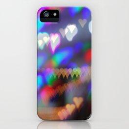 Christmas bokeh II iPhone Case