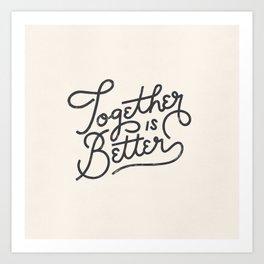 Better Together Light Art Print