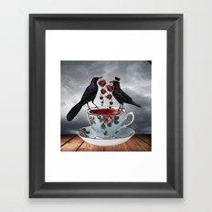 TEA AND A LIL' LOVE Framed Art Print