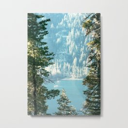 Lake Tahoe Through the Trees Metal Print