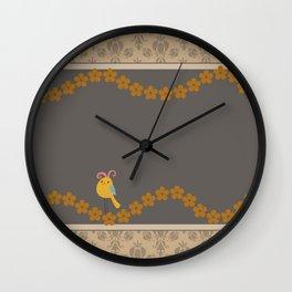Scrap Yellow Bird Wall Clock