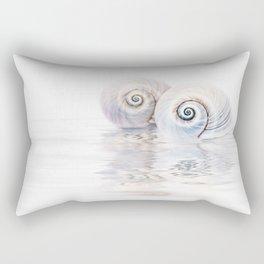 Snail Shells On Water Rectangular Pillow