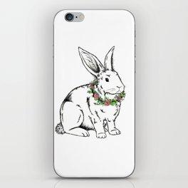 flower Bunny iPhone Skin