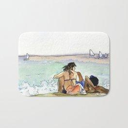 Scene at the beach Bath Mat