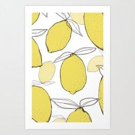 lemon free Art Print