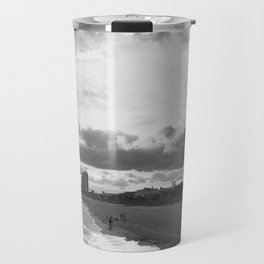 South Carolina Coastline - Myrtle Beach BW Travel Mug