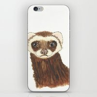ferret iPhone & iPod Skins featuring Disappointed Ferret by SnipsandScraps