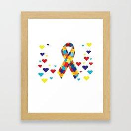 Autism awareness day Shirt support autistic kids Framed Art Print