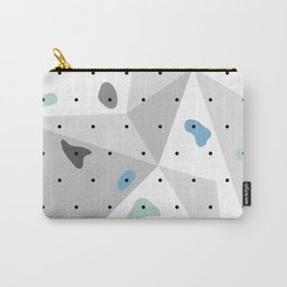 Abstract geometric climbing gym boulders blue mint Carry-All Pouch