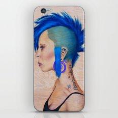 Blue Mohawk iPhone & iPod Skin