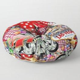 Gamblers Delight - Las Vegas Icons Floor Pillow