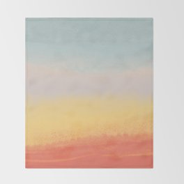 Ceramic Sunset // Multi Color Speckled Drip Summer Beach California Surf Vibes Wall Hanging Design Throw Blanket