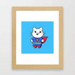 Superkitty! Framed Art Print