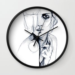 Sketch V Wall Clock