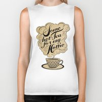 kitchen Biker Tanks featuring Some Hot Tea For My Hottie by Laura Graves