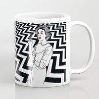 twin peaks Mugs featuring Twin Peaks by Saul Art