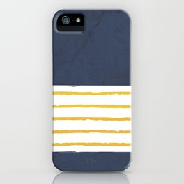 Navy stripes iPhone Case
