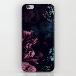 Peony in the dark iPhone Skin