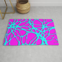 Hot Web pink, turquoise Rug