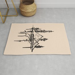 Abstract Landscpe Rug