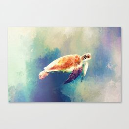 Sea Turtle Painting Canvas Print
