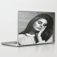 cocaine Laptop & iPad Skins featuring cocaine heart by Grace Teaney Art