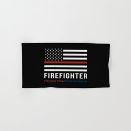 Fueled By Fire (Thin Red Line) Hand & Bath Towel