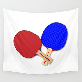 Two Table Tennis Bats Wall Tapestry