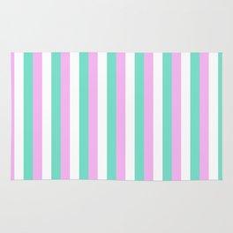 Spun Sugar Stripes Pattern Print Rug