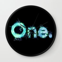 One Logo with tech details - Illustration Wall Clock