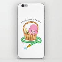 silence of the lambs iPhone & iPod Skins featuring It puts the lotion in the basket. // Silence of the Lambs by Dueling Doodlers