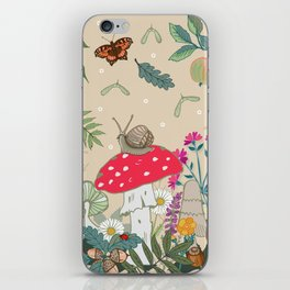 Toadstools in the Woods iPhone Skin